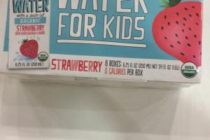 Organic Water For Kids