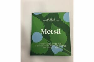 METSA CHOCOLATE TOPPED WITH BIRCH LEAVES & FOREST CRYSTALS