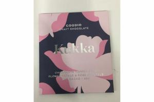 KUKKA CHOCOLATE TOPPED WITH FLOWER PETALS & ROSE CRYSTALS