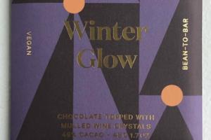 WINTER GLOW CHOCOLATE TOPPED WITH MULLED WINE CRYSTALS