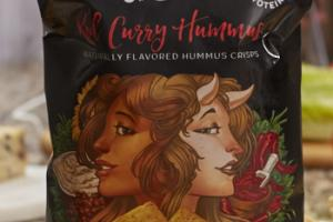RED CURRY HUMMUS FLAVORED HUMMUS CRISPS
