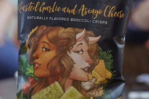 ROASTED GARLIC AND ASIAGO CHEESE FLAVORED BROCCOLI CRISPS