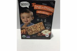 APPLE, SWEET POTATO, & CINNAMON FLAVORED TODDLER ORGANIC FRUIT & PROTEIN SOFT OAT BAR