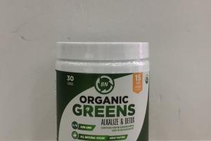 Organic Greens Alkalize & Detox Dietary Supplement