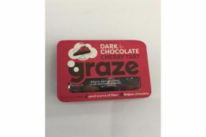 DARK CHOCOLATE CHERRY TART BELGIAN DARK CHOCOLATE, DRIED CHERRIES & ALMONDS