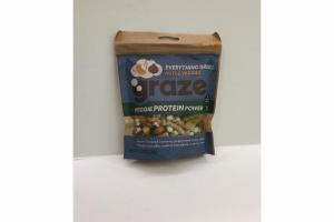 CHEESE FLAVORED CASHEWS, POPPY SEED ONION STICKS, ROASTED PUMPKIN SEEDS & SEA SALTED CRUNCHY PEAS VEGGIE PROTEIN POWER