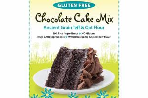 GLUTEN FREE ANCIENT GRAIN TEFF & OAT FLOUR CHOCOLATE CAKE MIX