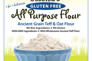 GLUTEN FREE ANCIENT GRAIN TEFF & ALL PURPOSE OAT FLOUR