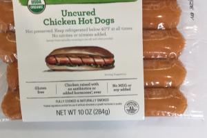 Uncured Chicken Hot Dogs