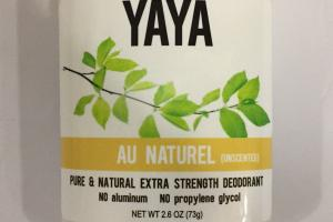 Pure & Natural Extra Strength Deodorant, Unscented