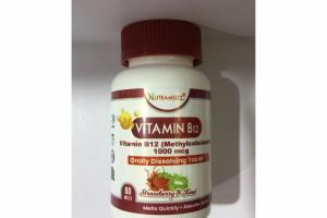 STRAWBERRY & KIWI VITAMIN B12 (METHYLCOBALAMIN) 1000 MCG ORALLY DISSOLVING TABLET