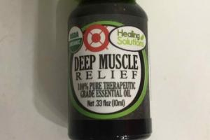 DEEP MUSCLE RELIEF 100% PURE THERAPEUTIC GRADE ESSENTIAL OIL
