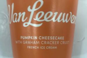 PUMPKIN CHEESECAKE WITH GRAHAM CRACKER CRUST FRENCH ICE CREAM