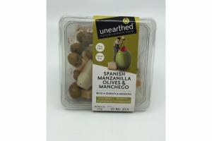 SPANISH MANZANILLA OLIVES & MANCHEGO WITH A CHIPOTLE DRESSING