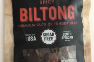 SPICY BILTONG PREMIUM CUTS OF TENDER BEEF