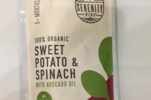 100% Organic Sweet Potato & Spinach With Avocado Oil