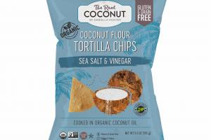 SEA SALT & VINEGAR COCONUT FLOUR TORTILLA CHIPS