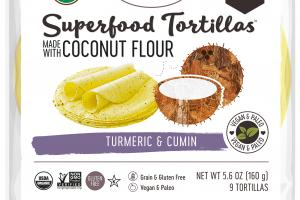 TURMERIC & CUMIN SUPERFOOD TORTILLAS MADE WITH COCONUT FLOUR
