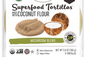MUSHROOM BLEND SUPERFOOD TORTILLAS