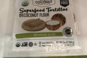 MUSHROOM BLEND SUPERFOOD TORTILLAS MADE WITH COCONUT FLOUR