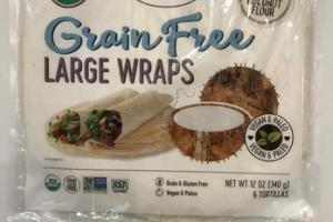 GRAIN FREE LARGE WRAPS TORTILLAS