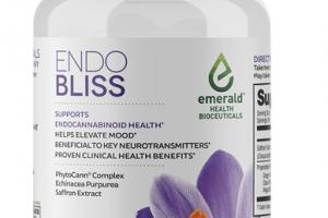 ENDO BLISS PHYTOCANN COMPLEX, ECHINACEA ANGUSTIFOLIA, + SAFFRON EXTRACT SUPPORTS ENDOCANNABINOID HEALTH DIETARY SUPPLEMENT VEGAN SOFTGELS