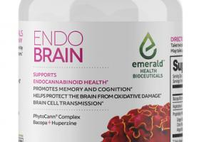 ENDO BRAIN PHYTOCANN COMPLEX, BACOPA + HUPERZINC SUPPORTS ENDOCANNABINOID HEALTH DIETARY SUPPLEMENT VEGAN SOFTGELS