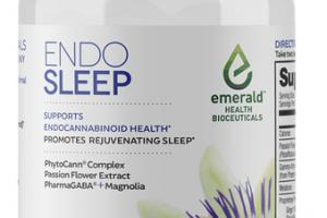 ENDO SLEEP PHYTOCANN COMPLEX, PASSION FLOWER EXTRACT, PHARMAGABA + MAGNOLIA SUPPORTS ENDOCANNABINOID HEALTH DIETARY SUPPLEMENT VEGAN SOFTGELS