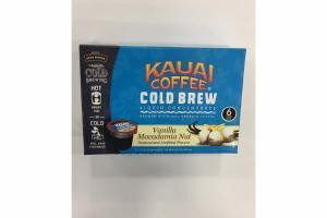 VANILLA MACADAMIA NUT COLD BREW LIQUID CONCENTRATE BREWED WITH 100% ARABIC COFFEE