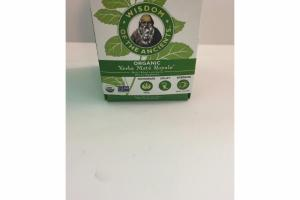 ORGANIC YERBA MATE ROYALE HERBAL BLEND WITH STEVIA DIETARY SUPPLEMENT BAGS