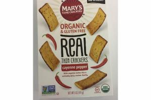 CAYENNE PEPPER ORGANIC & GLUTEN FREE REAL THIN CRACKERS
