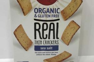 SEA SALT ORGANIC REAL THIN CRACKERS