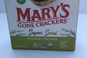 ORGANIC PLANT-BASED SUPER SEED ROSEMARY CRACKERS