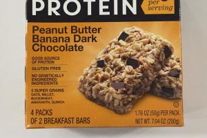 Peanut Butter Banana Dark Chocolate Breakfast Protein Bars