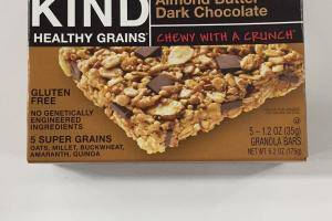 Almond Butter Dark Chocolate Granola Bars