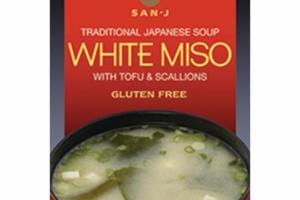 GLUTEN FREE WHITE MISO WITH TOFU & SCALLIONS JAPANESE SOUP