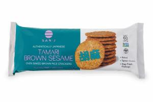 AUTHENTICALLY JAPANESE TAMARI BROWN SESAME OVEN BAKED BROWN RICE CRACKERS
