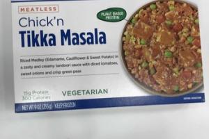 RICED VEGGIE CUISINE MEATLESS CHICK'N TIKKA MASALA