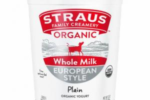 PLAIN EUROPEAN STYLE WHOLE MILK ORGANIC YOGURT