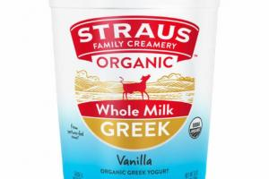 VANILLA ORGANIC GREEK WHOLE MILK YOGURT
