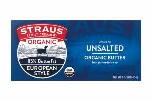 EUROPEAN STYLE, UNSALTED ORGANIC BUTTER