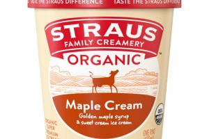 ORGANIC MAPLE CREAM SUPER PREMIUM ICE CREAM