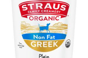 PLAIN ORGANIC NON FAT GREEK YOGURT