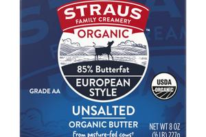 EUROPEAN STYLE UNSALTED ORGANIC BUTTER