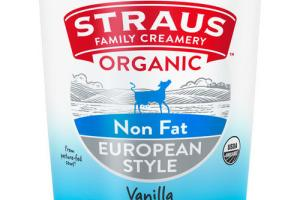 EUROPEAN STYLE VANILLA ORGANIC NON FAT YOGURT