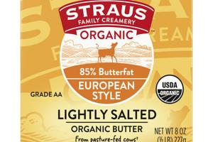 EUROPEAN STYLE LIGHTLY SALTED ORGANIC BUTTER