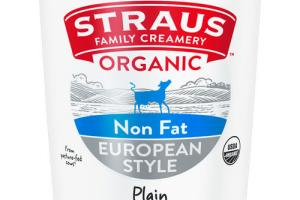 EUROPEAN STYLE PLAIN ORGANIC NON FAT YOGURT