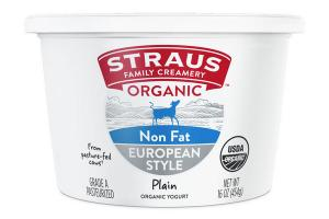 EUROPEAN STYLE PLAIN NON FAT ORGANIC YOGURT