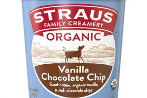 VANILLA CHOCOLATE CHIP ORGANIC SUPER PREMIUM ICE CREAM