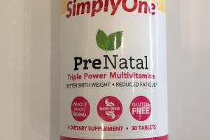Prenatal Triple Power Multivitamins A Dietary Supplement